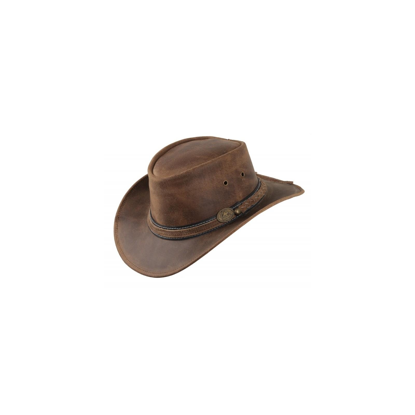 Irving lederen hoed