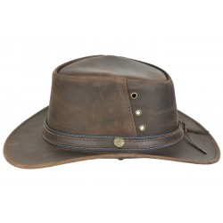 Longford leather hat