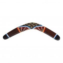 Handpainted Boomerang - size 19.6'' - wood - kangaroo - handpainted boomerang - outdoor sports
