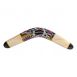Boomerang artesanal - tamaño 40cm - pintura de lagarto - woodboomerang - boomerang para niños