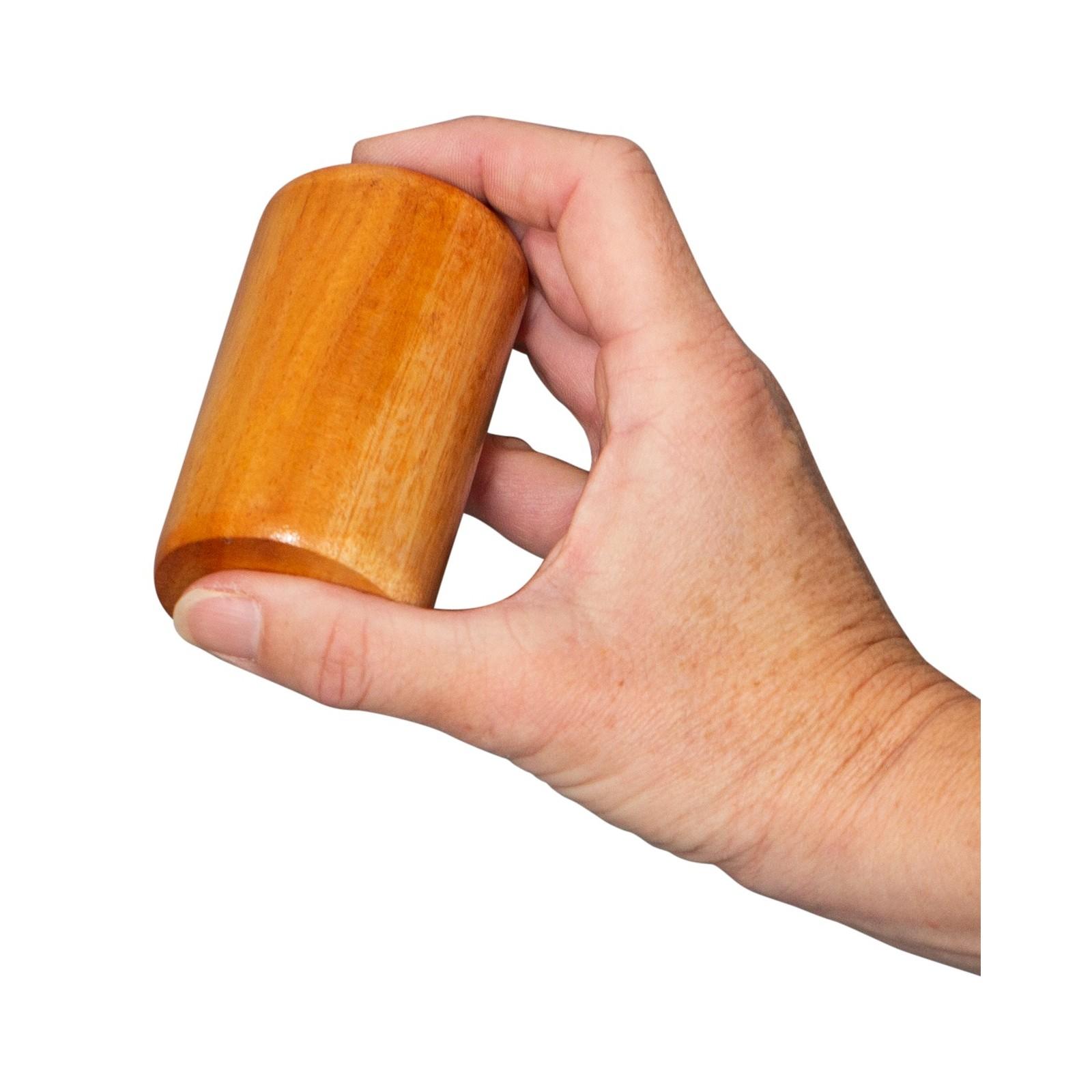 Set shaker in mogano- percussioni manuali - strumento musicale per bambini - leggero - 7.5cm