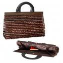 Sac à main pour femmes. Sac à main fait main en bambou et en bois. Elégant, léger et compact. 35 x 21 x 12cm